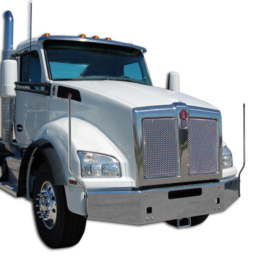 Kenworth Bumper Guides (#854-214) | Bores Manufacturing, Inc. - Fits Kenworth T880 2013-2019