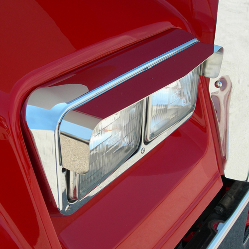 Stainless Steel Headlight Visors