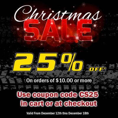 25% off Christmas sale!